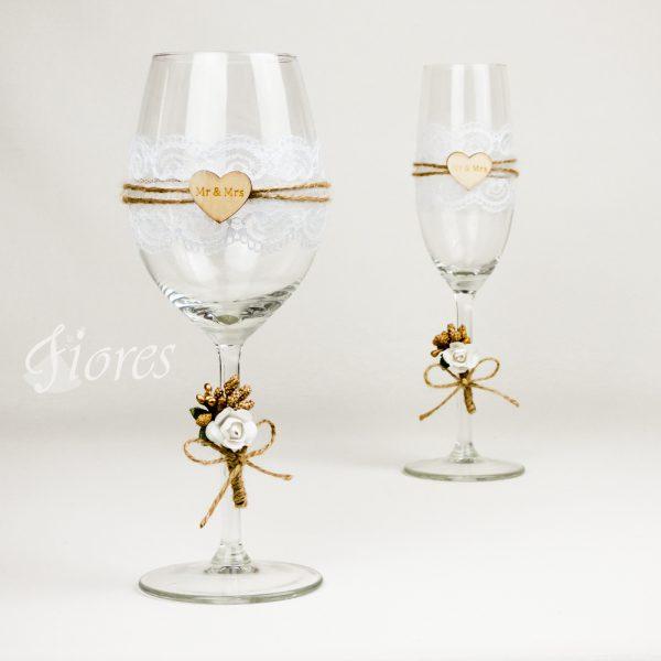 """Svadobné poháre """"Mr a Mrs"""""""