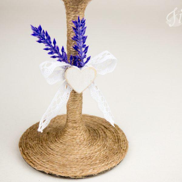 """Vintage svadobné poháre """"Vôňa levandule"""" 4"""