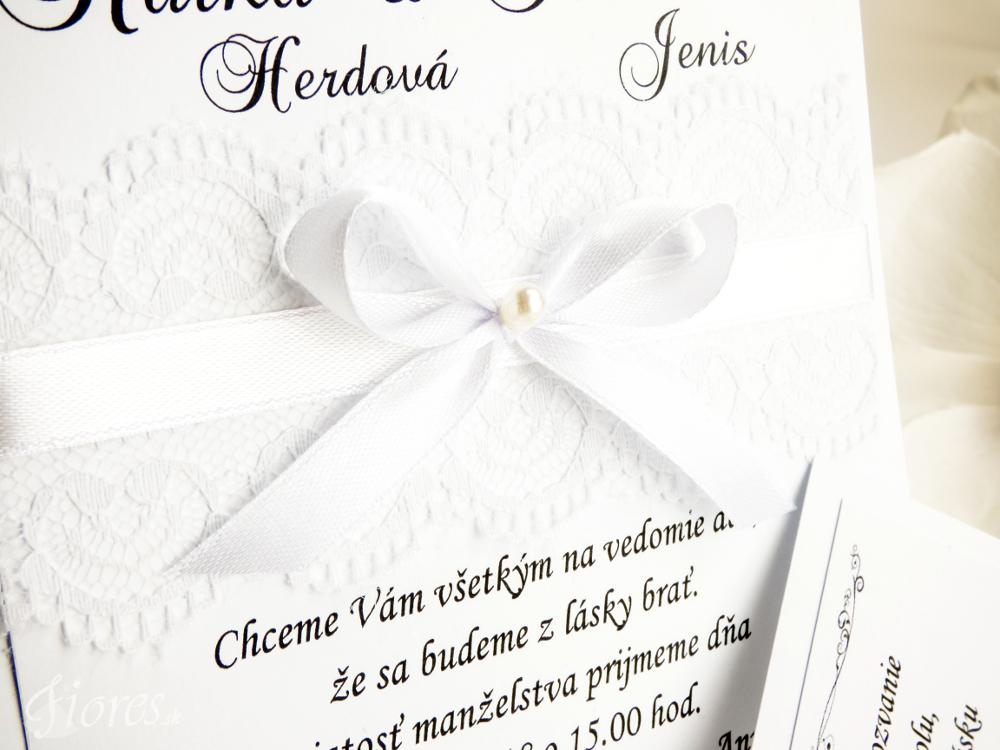 """Svadobné oznámenie """"Čipková romanca"""" 3"""