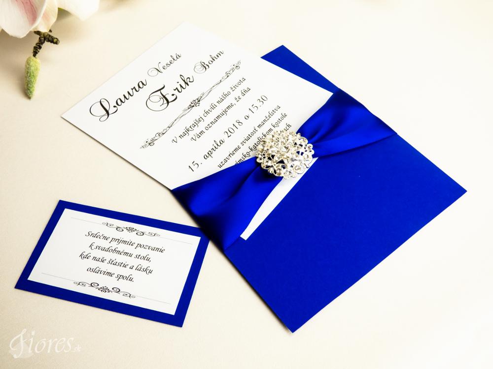 """Svadobné oznámenie """"Kráľovsky modrá"""" 4"""
