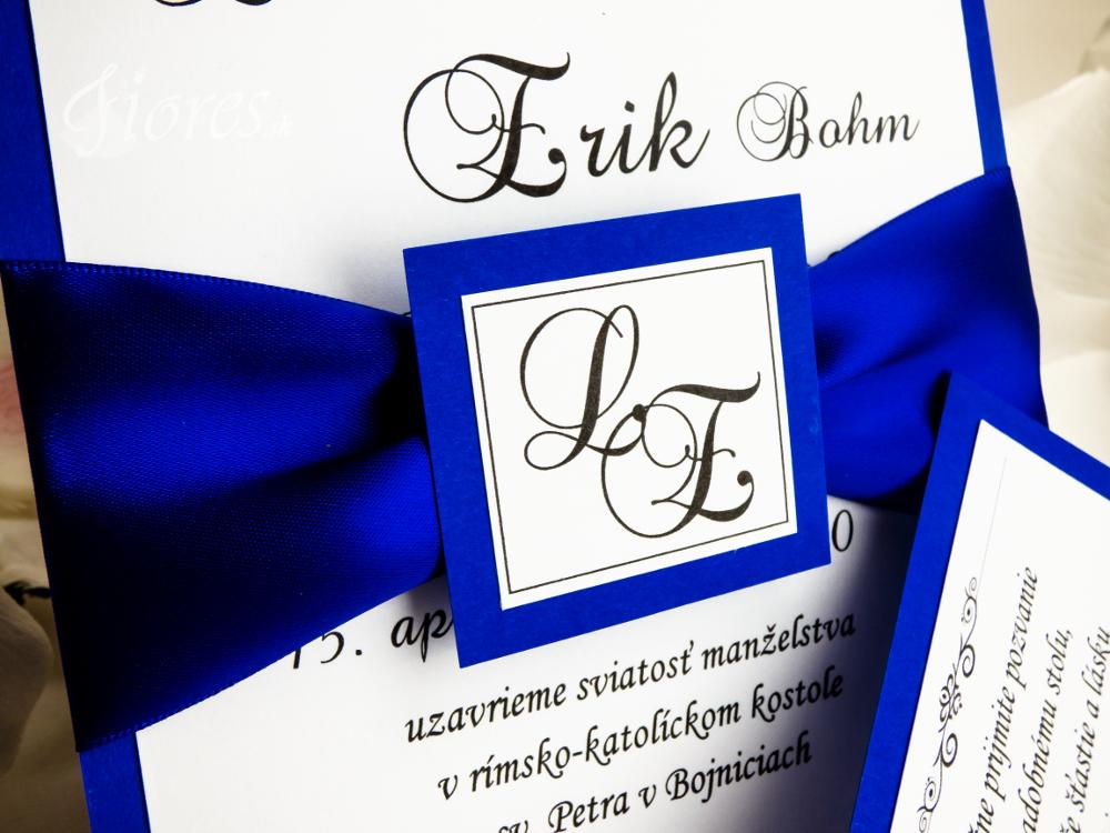 """Svadobné oznámenie """"Čaro modrej"""" 2"""