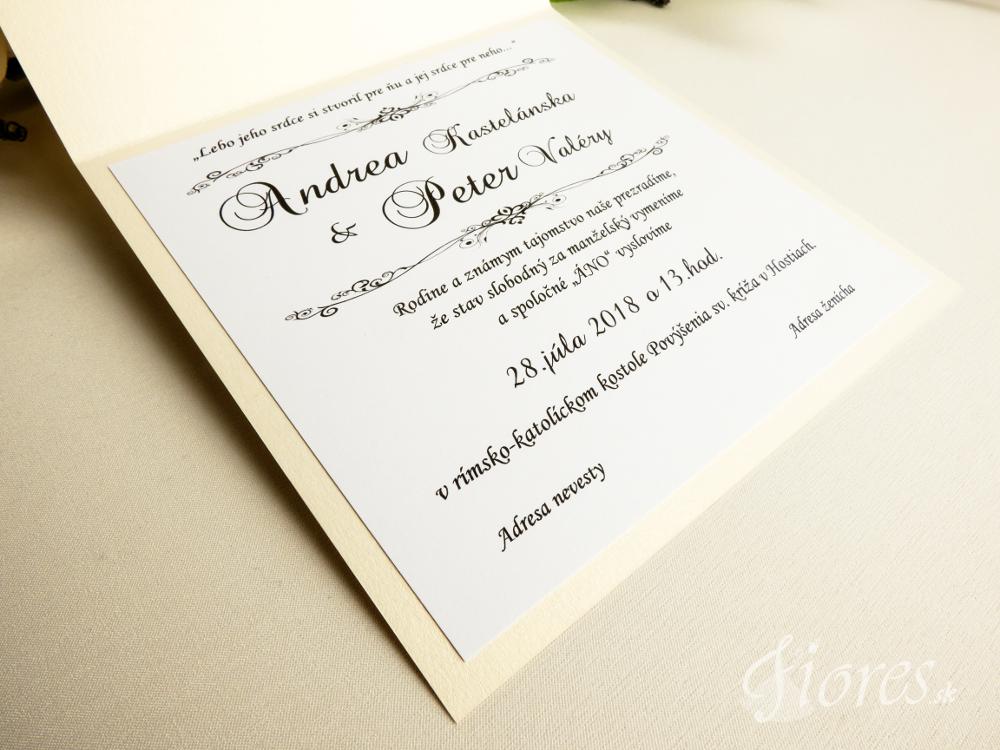 """Svadobné oznámenie """"Luxury lace"""" 4"""