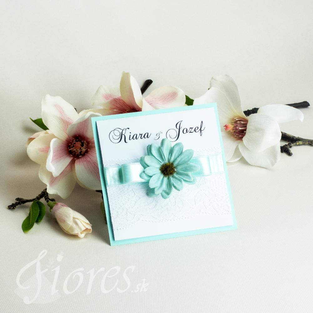 """Svadobné oznámenie """"Kvet nehy"""""""