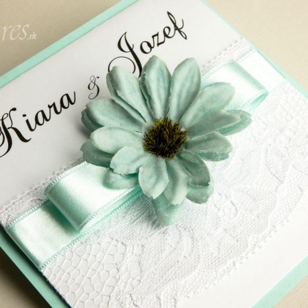 """Svadobné oznámenie """"Kvet nehy"""" 3"""