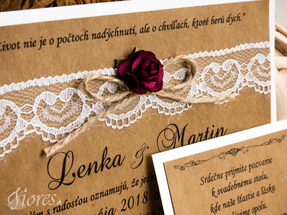 """Svadobné oznámenie """"Polnočná romanca"""" Detail 3"""
