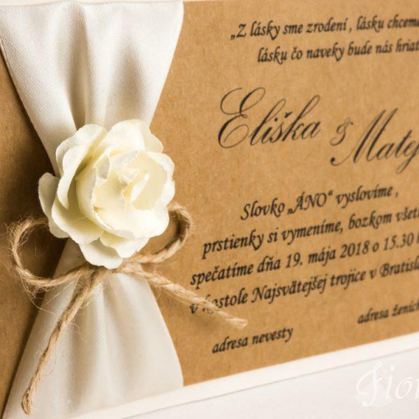 """Svadobné oznámenie """"Sladká ruža"""" – Detail"""