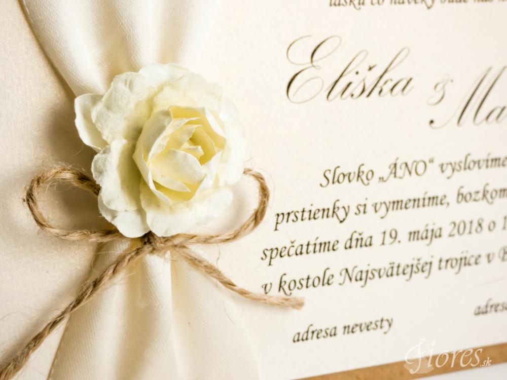 """Svadobné oznámenie """"Sladká ruža"""" – Detail 2"""