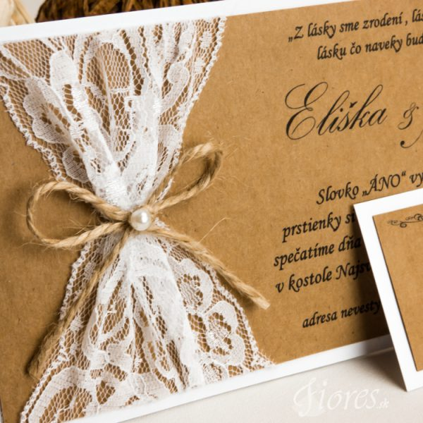 """Svadobné oznámenie """"Jemná perla"""" detail 2"""