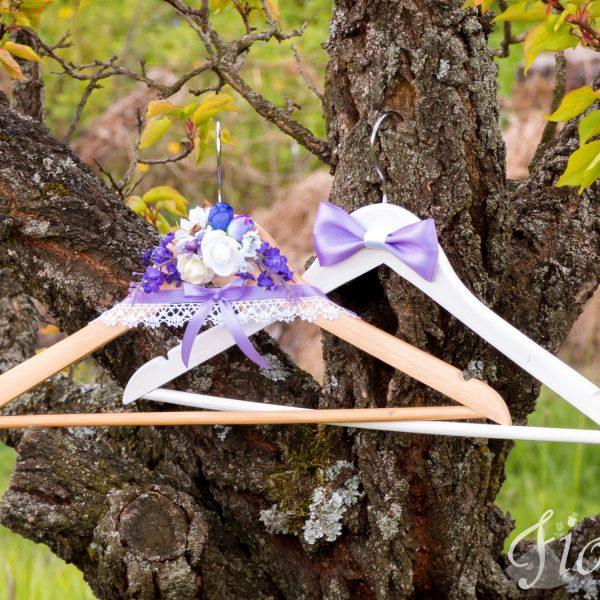 Svadobné vešiačiky – levanduľové 2