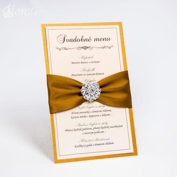 """Svadobné menu """"Pompézna zlatá"""""""