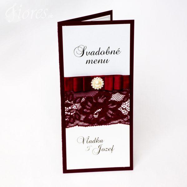 """Svadobné menu """"Burgundy elegance"""""""