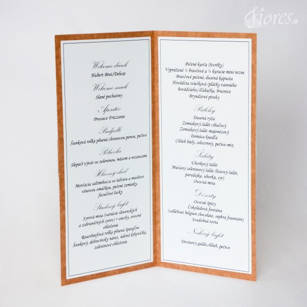 """Svadobné menu """"Vintage heart"""" 2"""