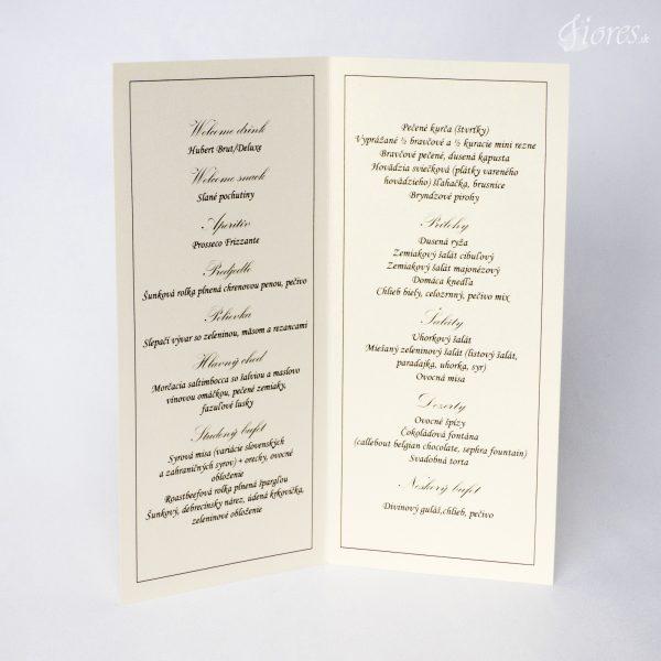 """Svadobné menu """"Kráľovská svadba"""" 2"""