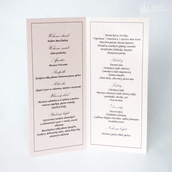 """Svadobné menu """"Dokonalá neha"""" 2"""