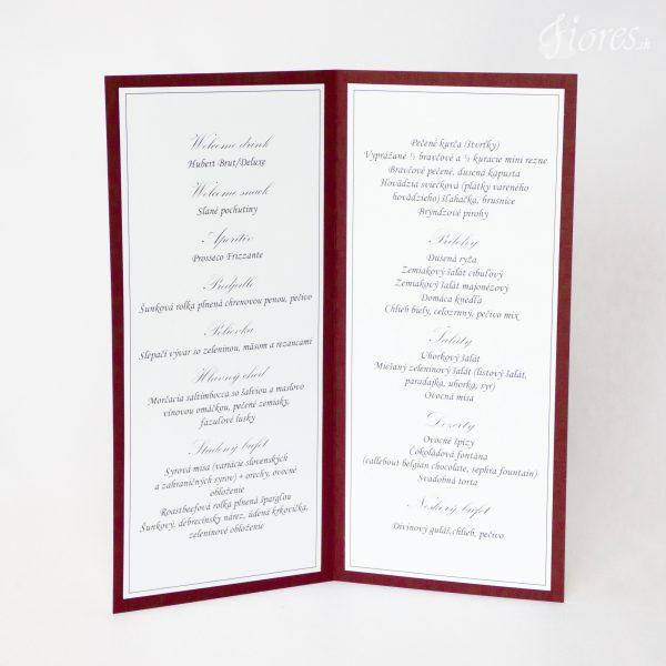 """Svadobné menu """"Burgundy elegance"""" 2"""