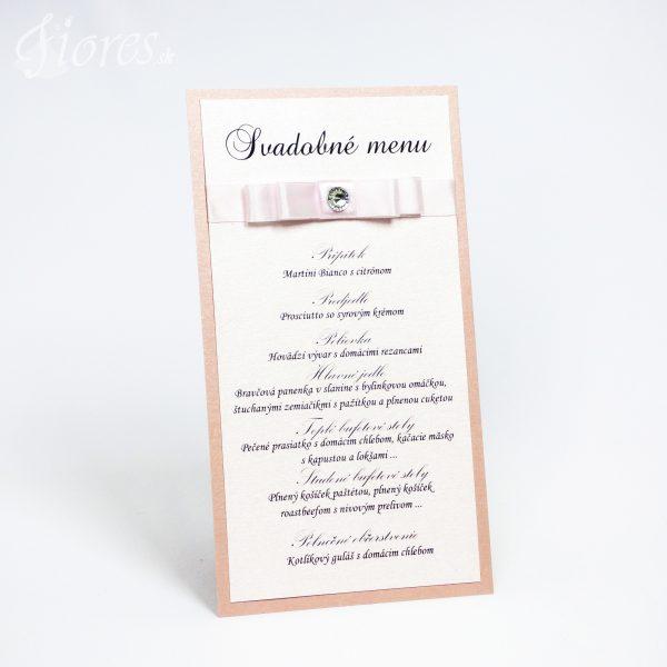 """Svadobné menu """"Púdrová jemnosť"""""""