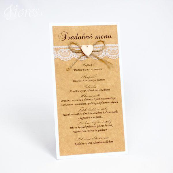 """Svadobné menu """"Radosť z lásky"""""""