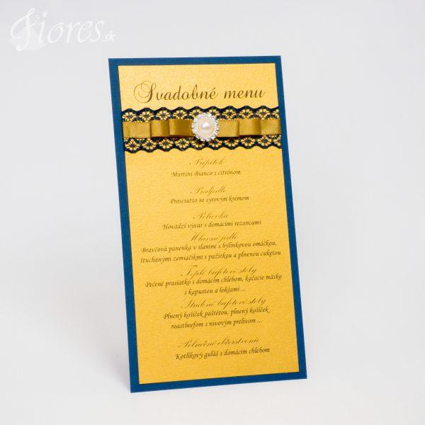 """Svadobné menu """"Sen kráľovnej Navy Blue"""""""