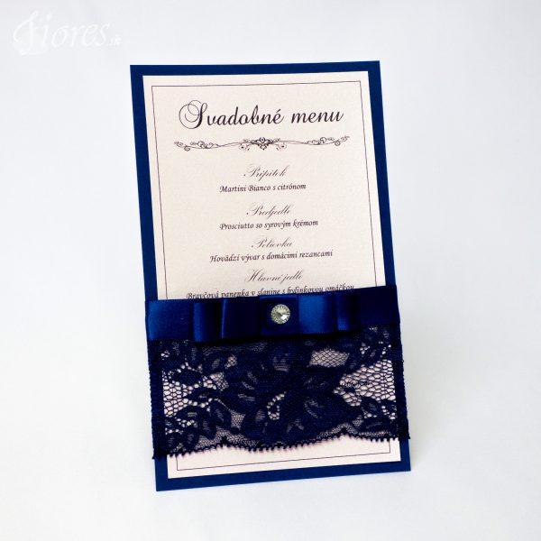 """Svadobné menu """"Púdrová romantika v navy blue"""""""
