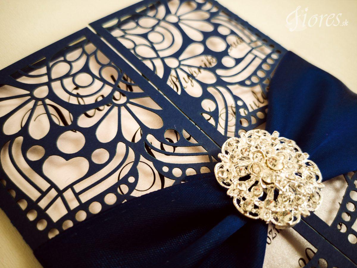 """Vyrezávané svadobné oznámenie """"Ornamental dream"""" - Detail"""