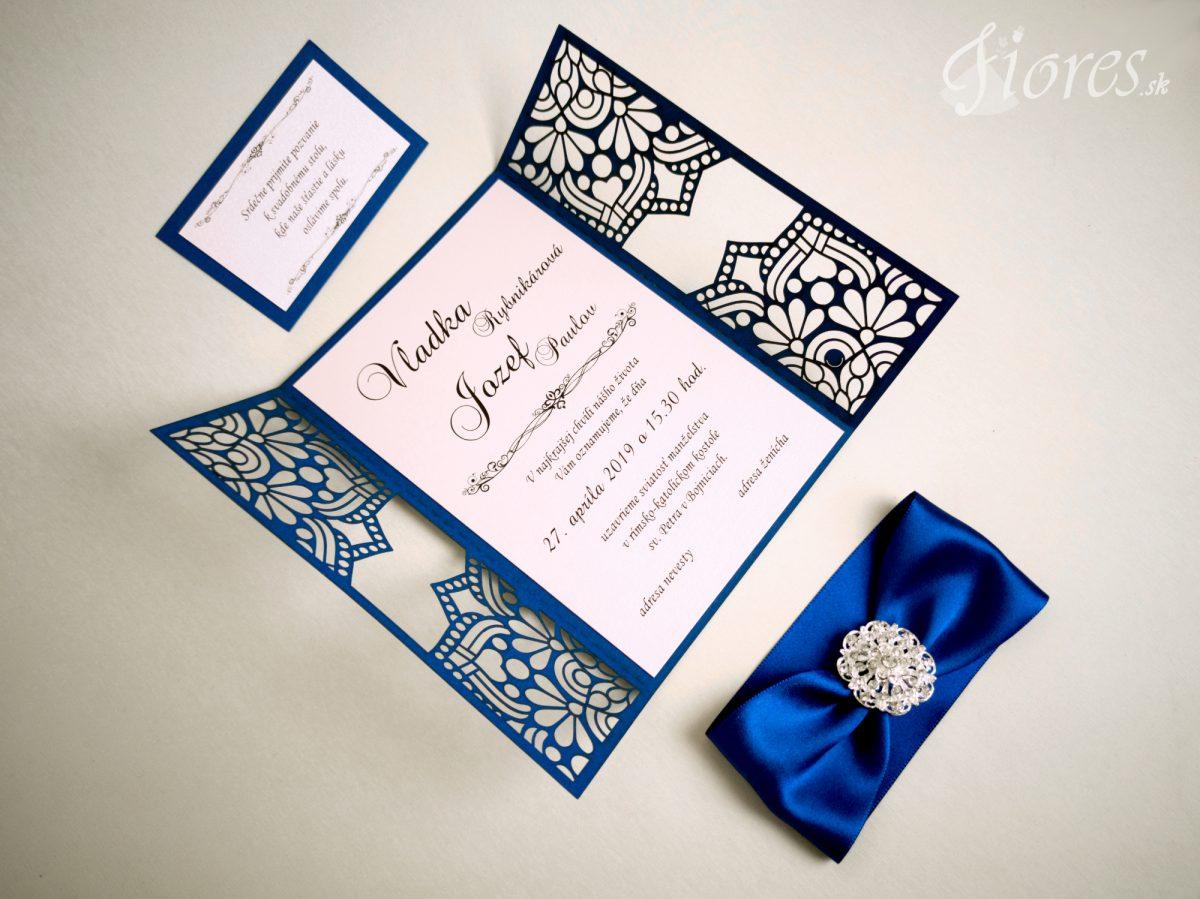"""Vyrezávané svadobné oznámenie """"Ornamental dream"""" - Otvorené"""