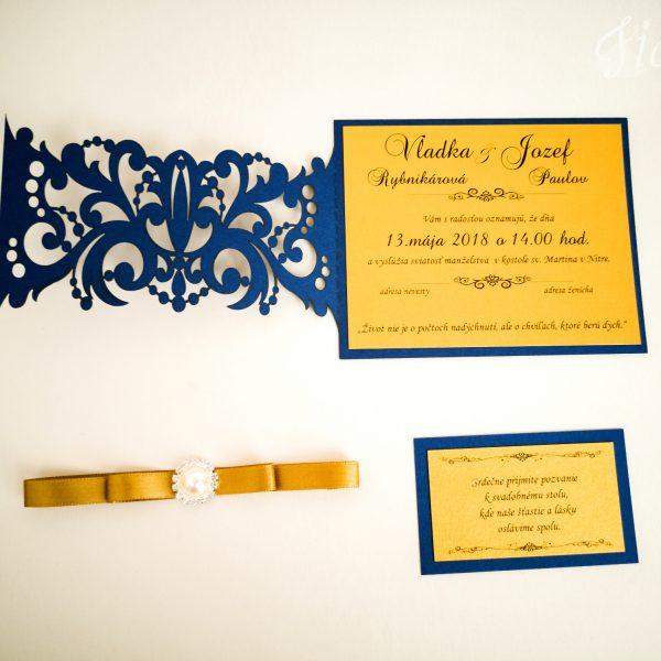 """Vyrezávané svadobné oznámenie """"Indian Queen"""" - Otvorené"""
