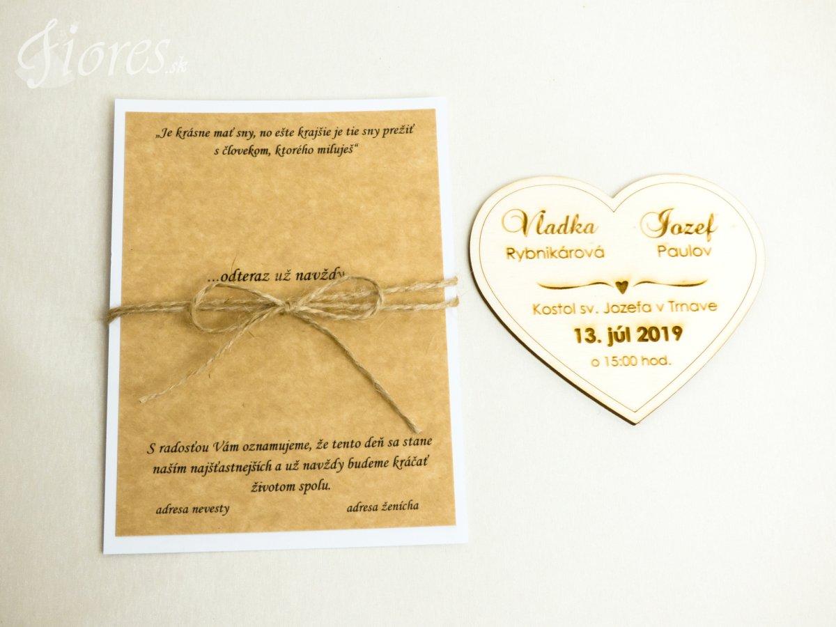 """Drevené gravírované svadobné oznámenia """"Čaro prírody"""" - Otvorené"""