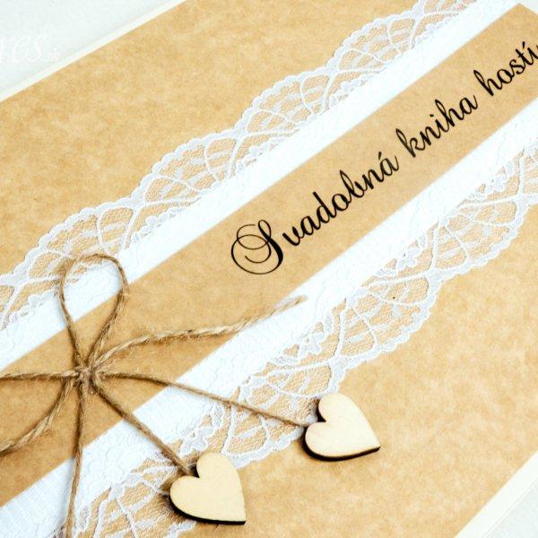 "Svadobná kniha hostí ""Vintage heart"" 2"