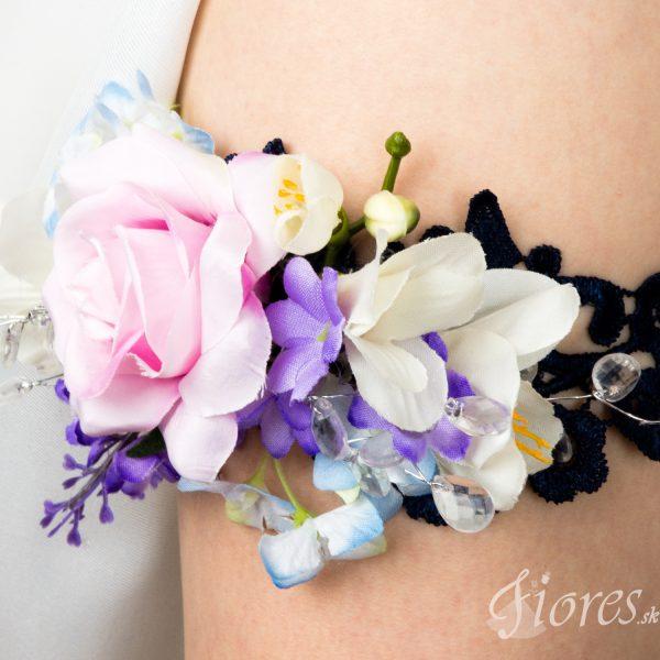 """Svadobný podväzok z kvetov """"Fiori"""" 2"""